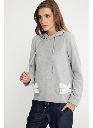 Just like you Kapüşonlu Sweatshirt Gri